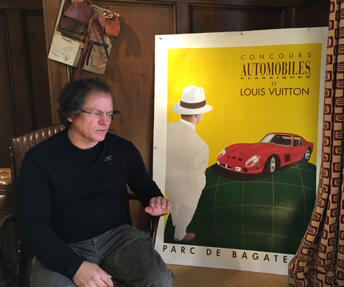 Designer Alan Price with Bugatti Poster